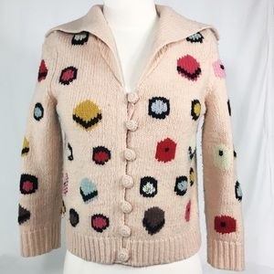 Anthropologie HWR chocolate box cropped cardigan